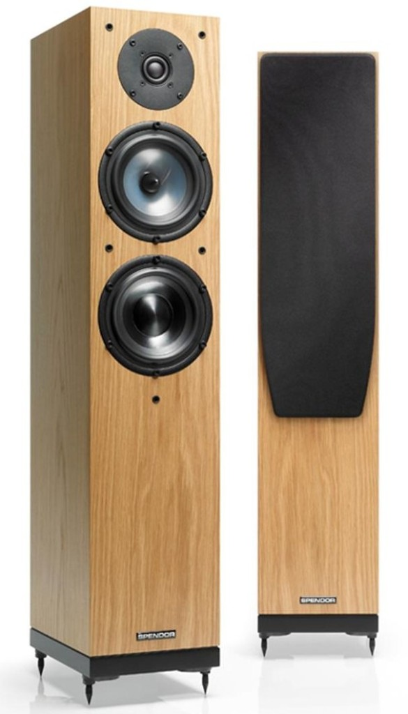 Spendor A5 loudspeakers take up the same room as a compact speaker on a stand